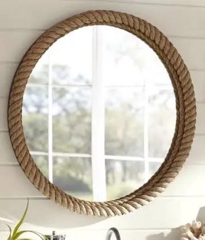 Keramik-Scheunen-Seil-Spiegel