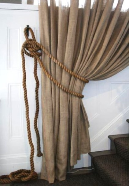 Seil-Vorhang-Zurücker