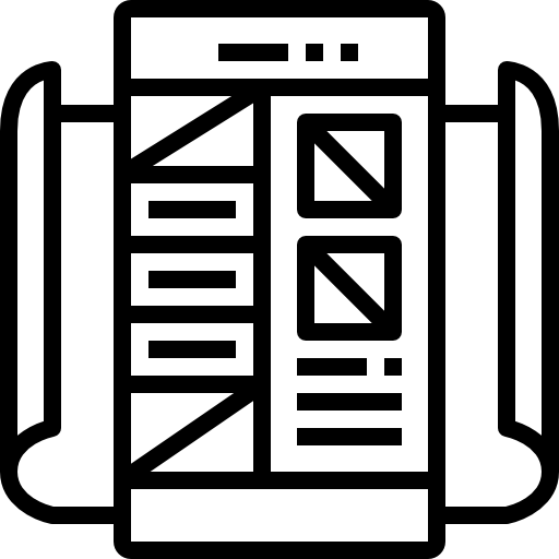 Icon of web page demonstrating UI design