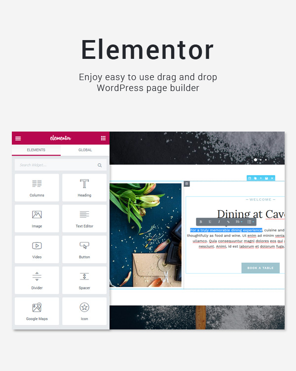 Caverta - Fine Dining Restaurant WordPress Theme - 2