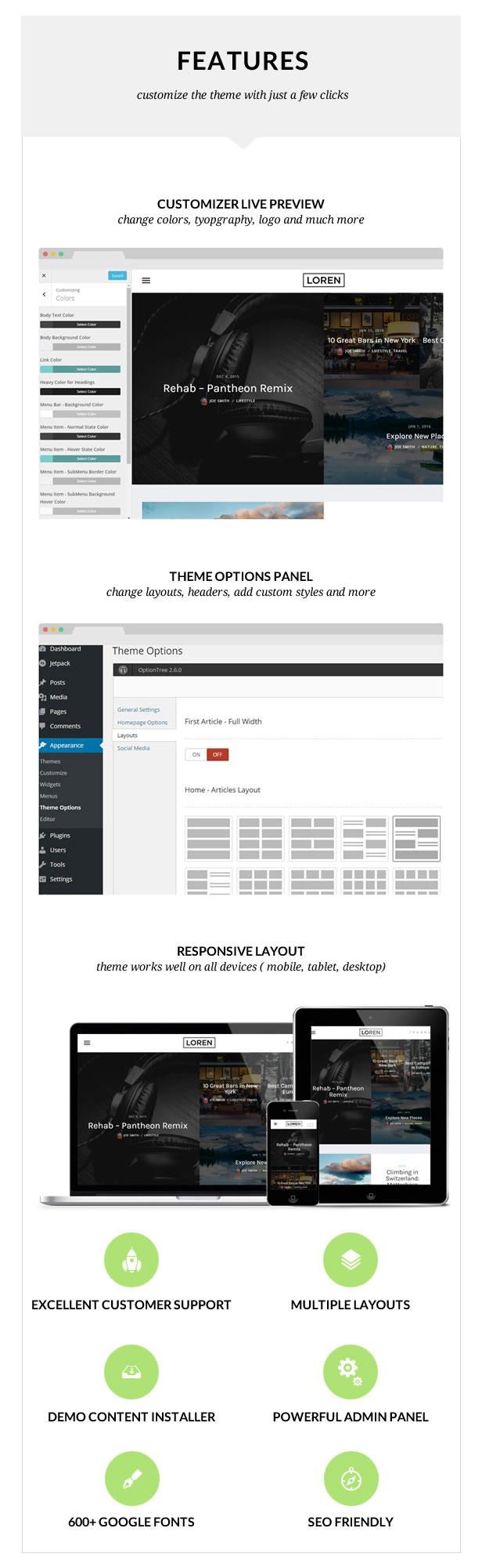Loren - Responsive WordPress Blog Theme - 2