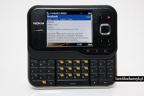 A phone accessing a current version of Facebook, from flickr user bartheq. http://www.flickr.com/photos/bartheq/4173395211/