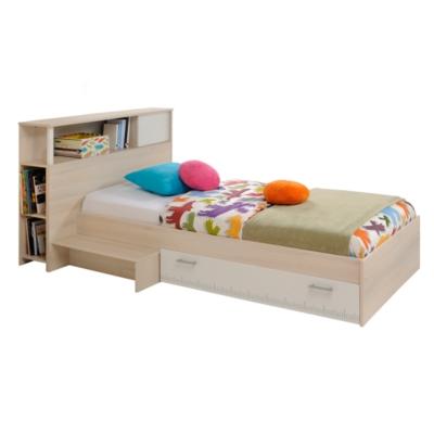 lit rangement avec tete de lit pierre 90 x 190 cm