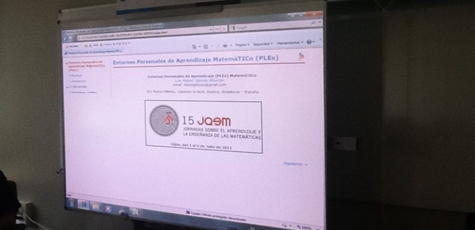 Presentación PLE Matemático - 15 JAEM Gijón - Julio'11