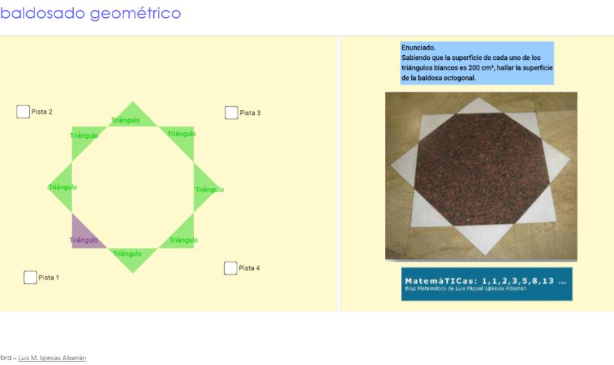 Tarea STEM. Modelización matemática con Geogebra: Embaldosado geométrico