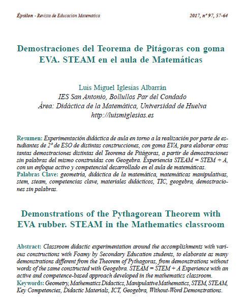 Artículo en Revista Epsilon 97 – Demostraciones del Teorema de ...