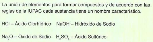 union de compuestos