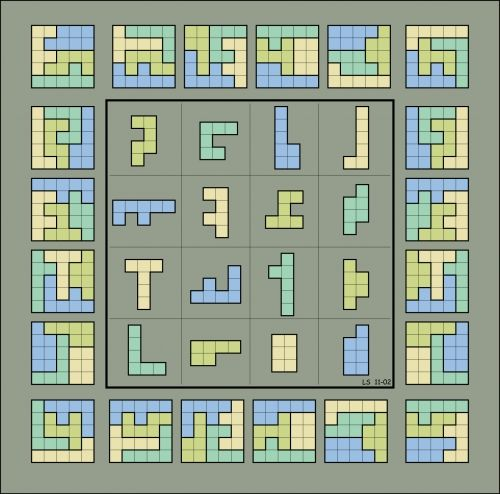4x4 square target