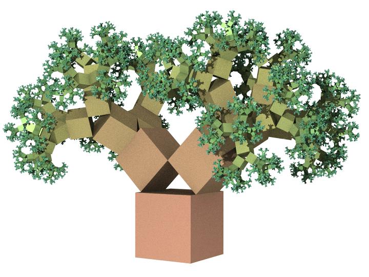 Árbol de Pitágoras (45º / 45º / 90º)