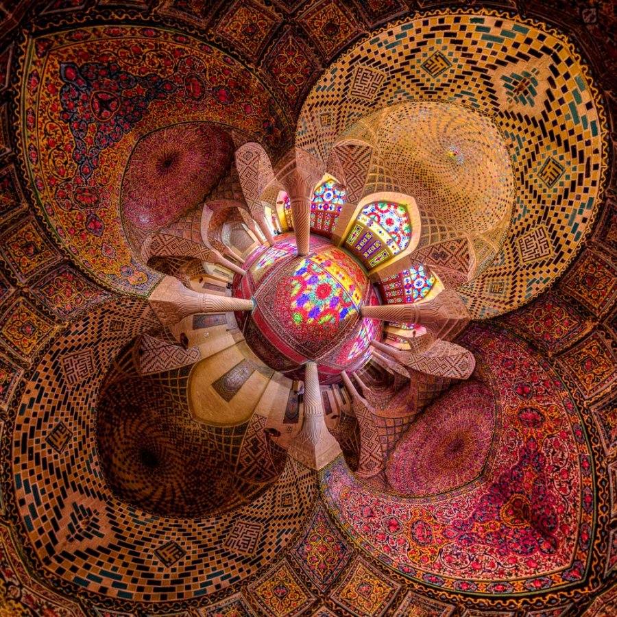 Little planet view of Nasir al-mulk mosque