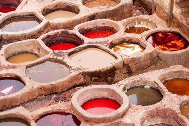 Tinajas para curtir pieles, Fez, Marruecos. © mateoht 1990-2014 - http://lafotodeldia.net