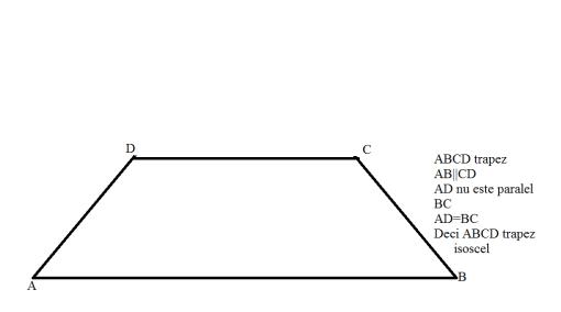 proprietati trapezul isoscel