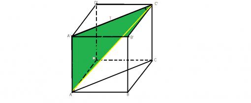sinusul unghiului dintre o dreapta si un plan