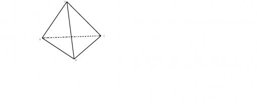 Piramida triunghiulara regulata reprezentare
