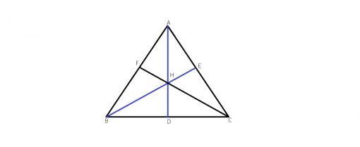 Care sunt inaltimile inr-un triunghi ascutit unghic?
