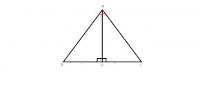 mediana, mediatoarea, inaltimea si bisecoarea intr-un triunghi isocel