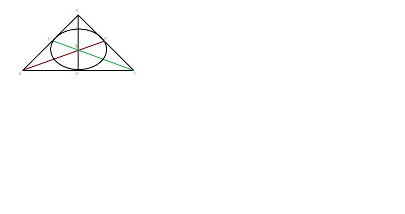 cum se noteaza punctul de intersectie al bisectoarelor