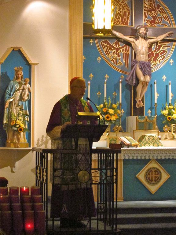 Bishop Bevard Visit 9-11-11