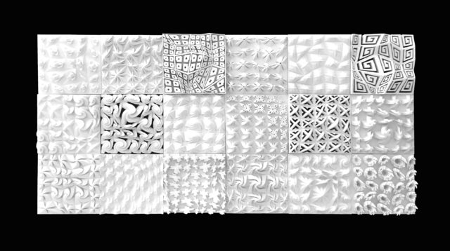 Ancient Greek inspired patterned 3D tiles 1