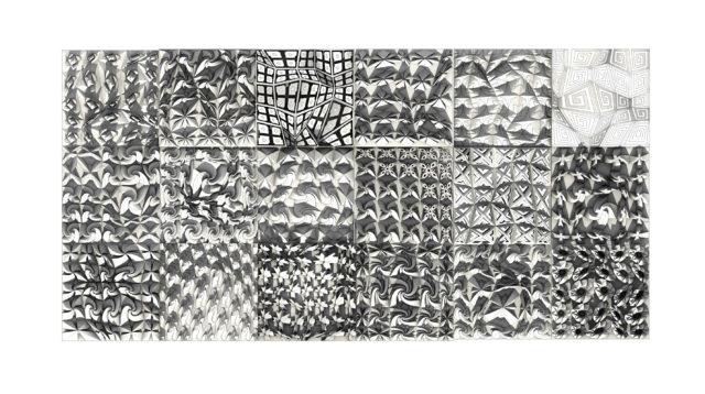Ancient Greek inspired patterned 3D tiles 2