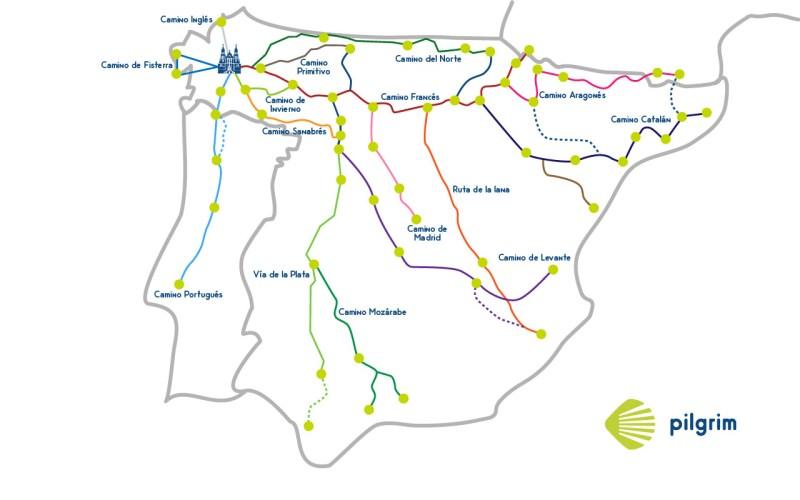 Caminos Santiago de España