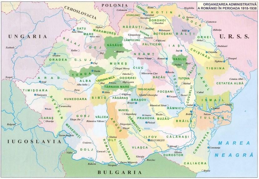 023. ORGANIZAREA ADMINISTRATIVA A ROMANIEI IN PERIOADA 1918 - 1938
