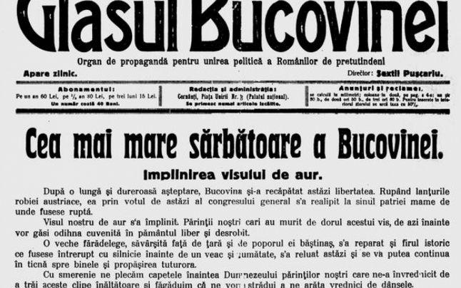 unirea-bucovinei-cu-românia