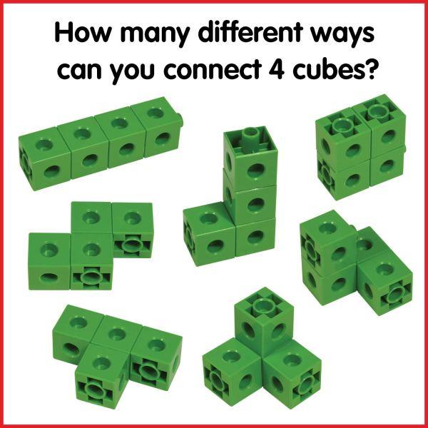 Cuburi colorate asamblabile 100 buc. 9