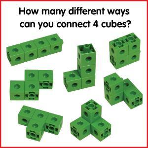 Cuburi colorate asamblabile 100 buc. 27