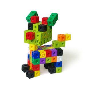 Cuburi colorate asamblabile 100 buc. 24