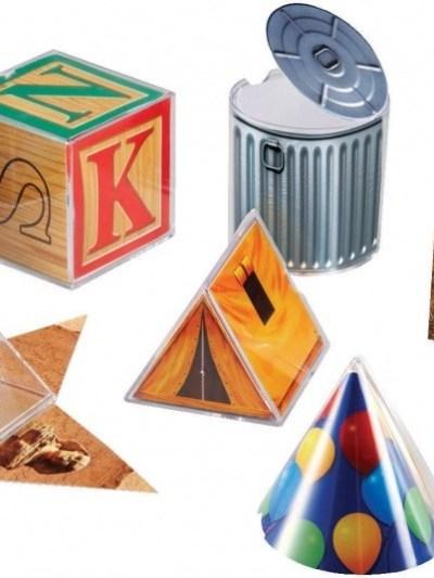 Set corpuri geometrice cu forme desfasurate