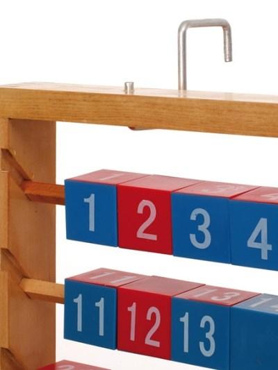 Abac demonstrativ cu cuburi demontabile, pana la 100