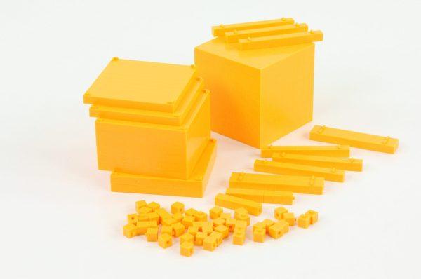 Sistemul zecimal - cuburi baza 10 interconectabile 3