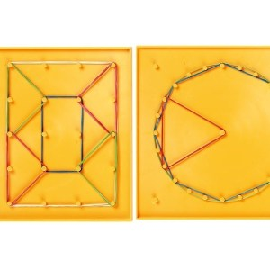 Set creativ cu elastice, Geoboards, 8 piese 15