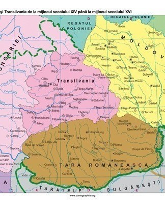 Tara Romaneasca. Moldova.Transilvania de la mijlocul sec. XIV pana la mijlocul sec. XVI