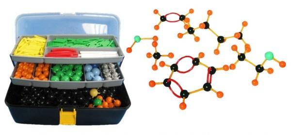 Set pentru modele moleculare de substante organice, anorganice si modele de retele cristaline 3