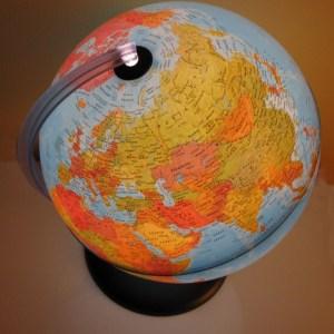Glob geografic pamantesc iluminat 22