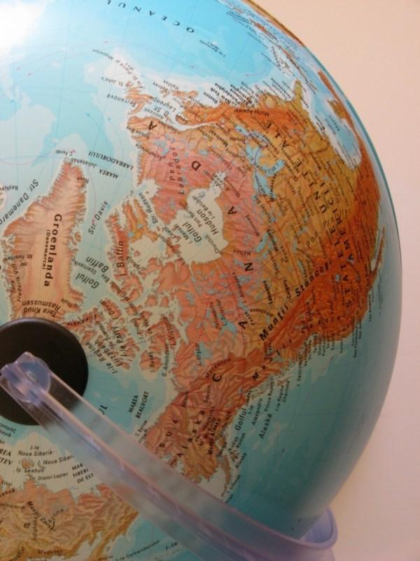 Glob geografic pamantesc iluminat 11