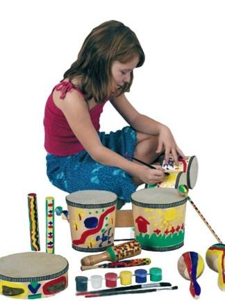 Set instrumente muzicale de colorat
