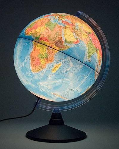Glob geografic pamantesc iluminat Elite