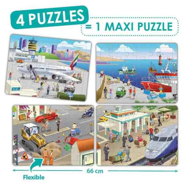 Puzzle 4 in 1 - Orasul meu 3
