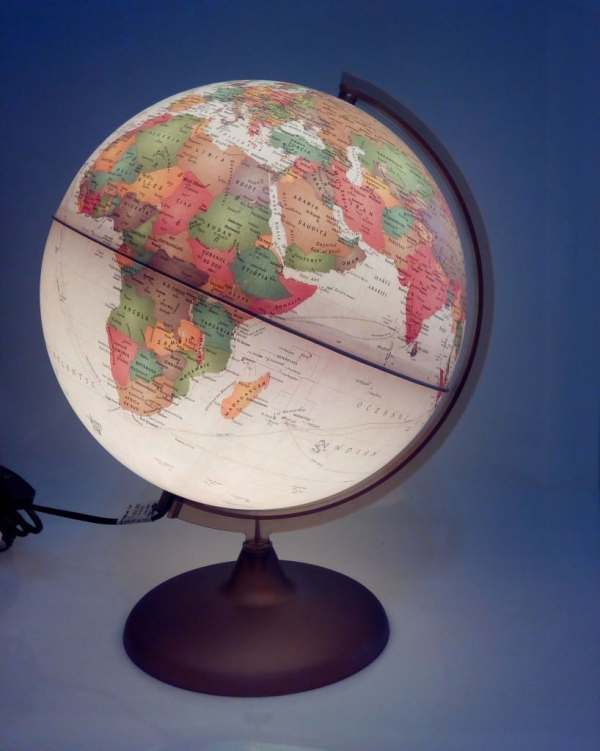 Glob geografic pamantesc iluminat Discovery 4