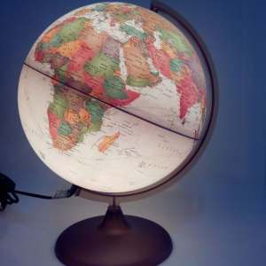 Glob geografic pamantesc iluminat Discovery 10