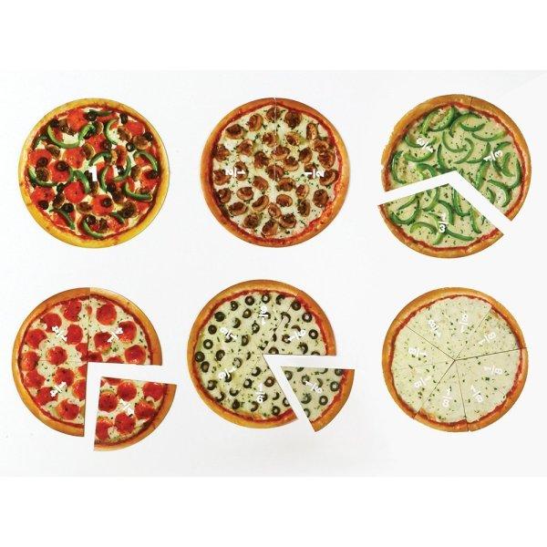 Pizza fractiilor cu magneti 6
