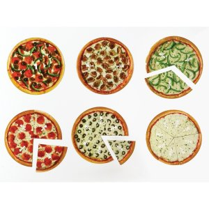 Pizza fractiilor cu magneti 10