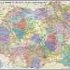 Romania si Republica Moldova.Harta administrativa