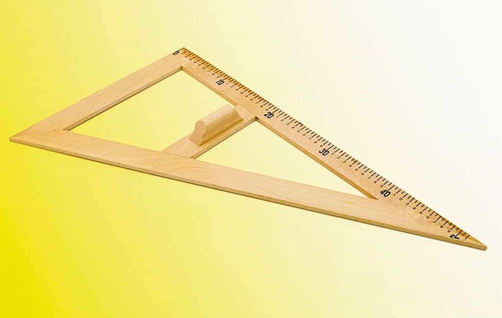 Echer de 60° - lemn