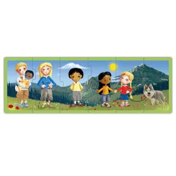 Set puzzle familiile lumii 6