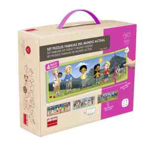 Set puzzle familiile lumii 15
