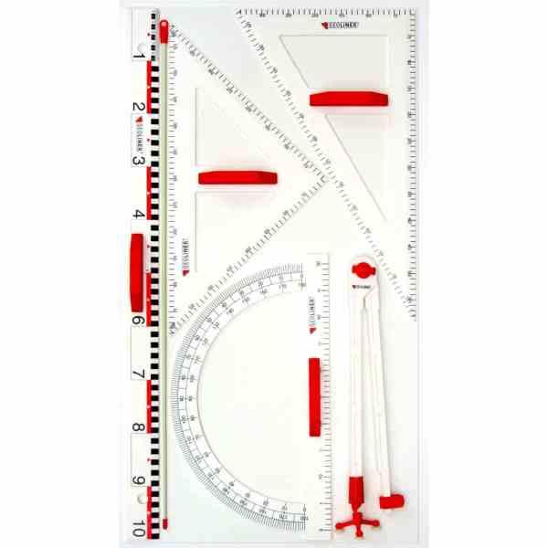 Trusa de instrumente geometrice Magnetice pentru tabla 3